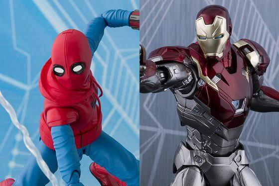 【予約】S.H.フィギュアーツの『スパイダーマン(ホームメイド)』&『アイアンマン マーク47』が8月10日16時より