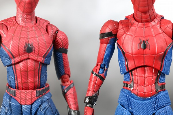MAFEX スパイダーマン ホームカミング レビュー S.H.フィギュアーツ スパイダーマンと比較