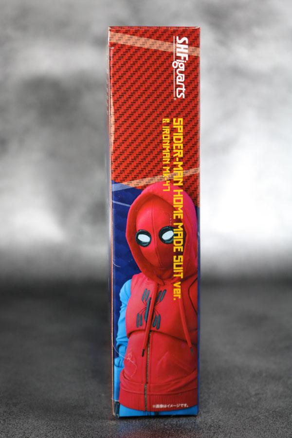 S.H.フィギュアーツ スパイダーマン(ホームカミング) ホームメイドスーツVer.  レビュー 箱 パッケージ