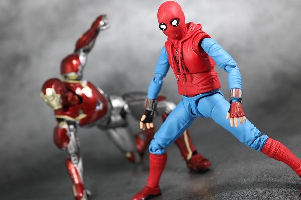 S.H.フィギュアーツ スパイダーマン(ホームカミング) ホームメイドスーツVer. レビュー アクション