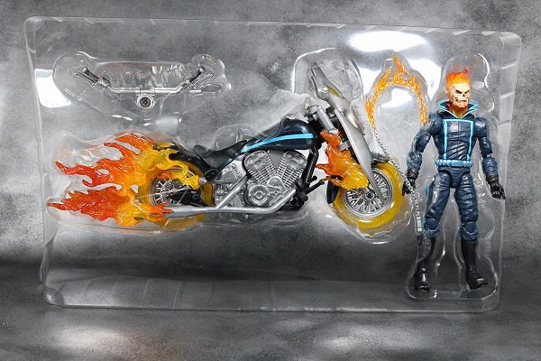マーベルレジェンド ゴーストライダー バイク レビュー  レビュー 箱 パッケージ
