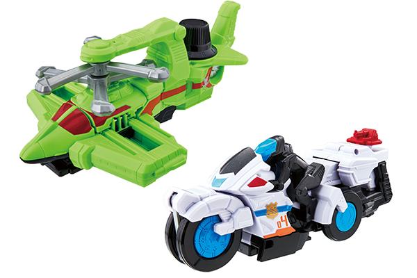 新ロボ登場!ルパンにはサイクロンダイヤルファイター、パトレンにはトリガーマシンバイカー!