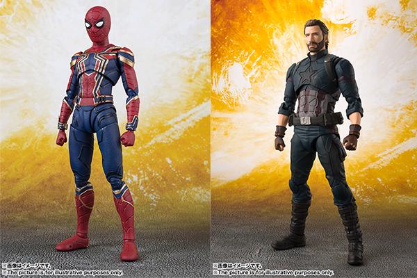 【予約開始】S.H.フィギュアーツ キャプテンアメリカ&アイアン・スパイダーマンが5月に発売!