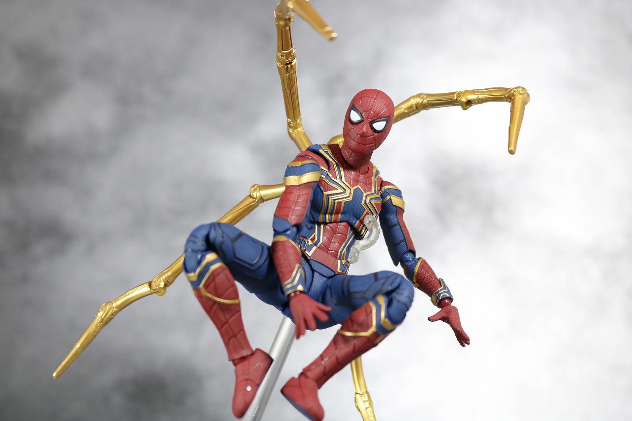 S.H.フィギュアーツ アイアン スパイダーマン アベンジャーズ インフィニティウォー レビュー アクション