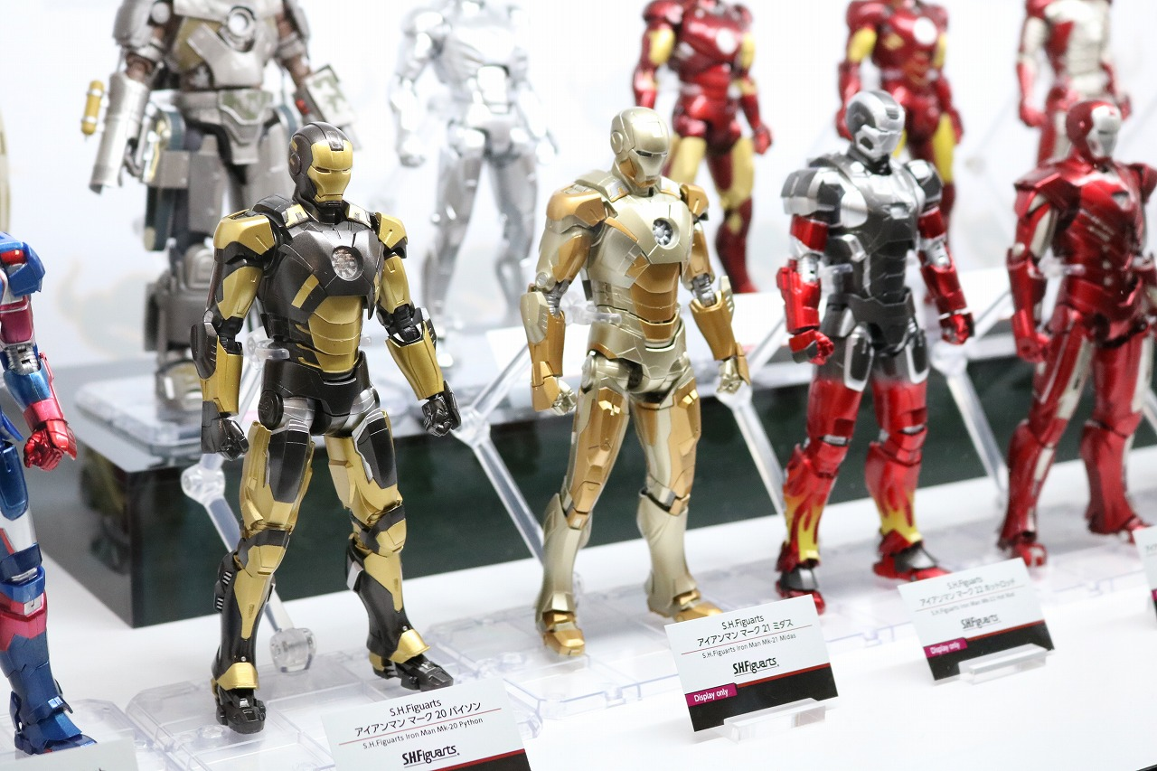 TAMASHII Comic-Con タマシイコミコン マーベル S.H.フィギュアーツ アイアンマン マーク20 バイソン マーク21 ミダス マーク22ホットロッド