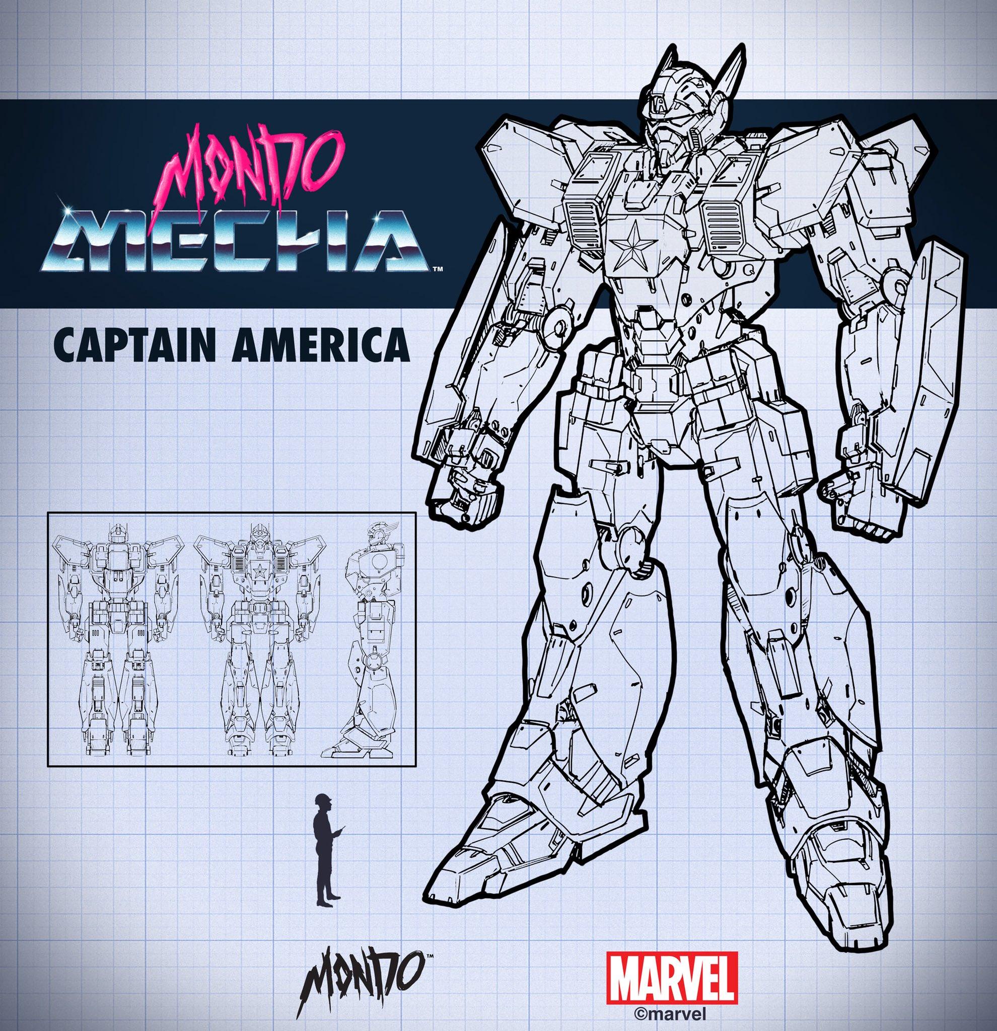 Mondo キャプテンアメリカ ロボット