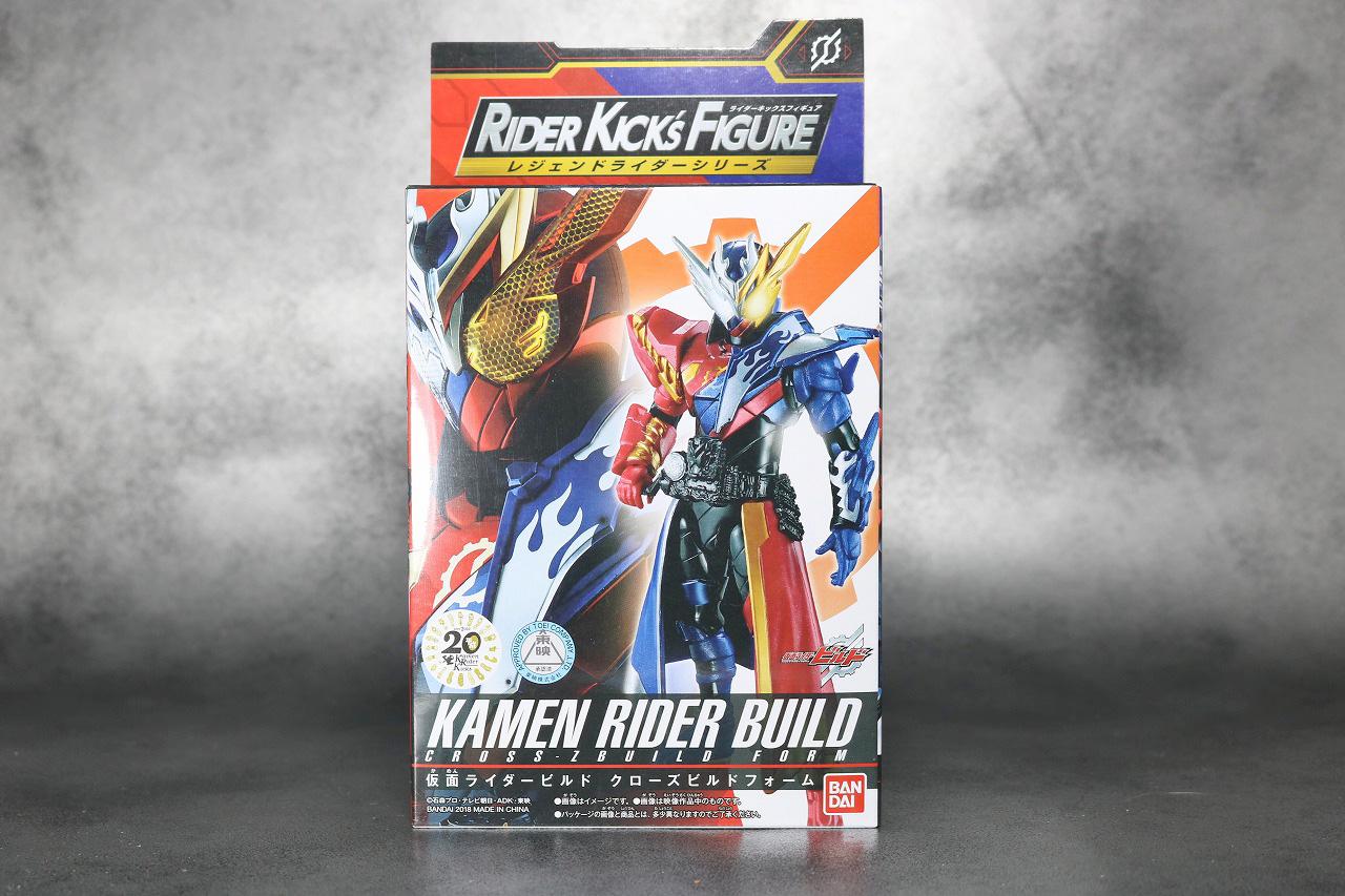 RKF RIDER KICK'S FIGURE 仮面ライダービルド クローズビルドフォーム レビュー パッケージ