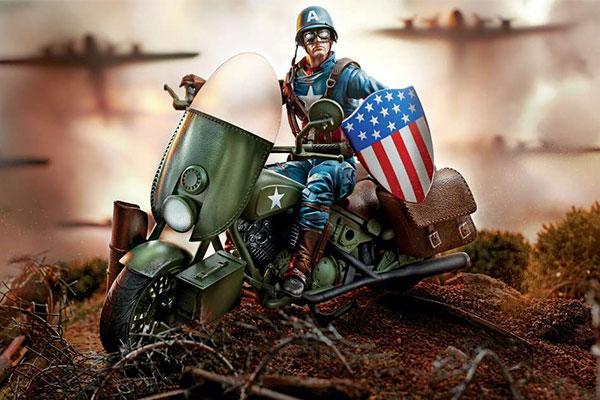 マーベルレジェンド新作!キャプテンアメリカ&バイクセットが発売!クラシックなイメージを再現!