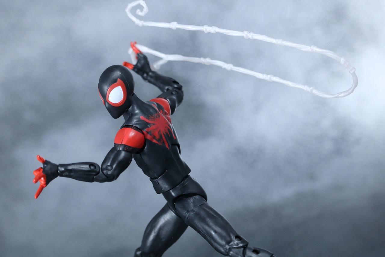 マーベルレジェンド スパイダーマン マイルズ・モラレス スパイダーバース レビュー アクション