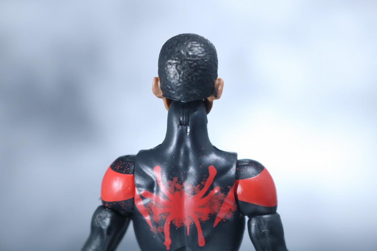 マーベルレジェンド スパイダーマン マイルズ・モラレス スパイダーバース レビュー 付属品 素顔頭部