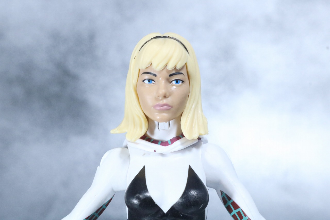 マーベルレジェンド スパイダーグウェン レビュー スパイダーバース 付属品 グウェン・ステイシー 素顔頭部