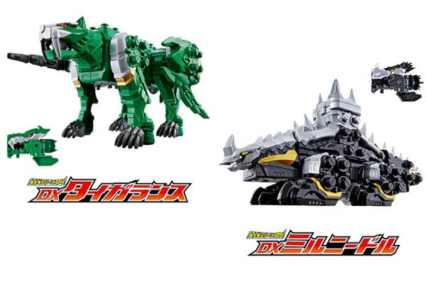 リュウソウブラック・グリーンの騎士竜「タイガランス」&「ミルニードル」3月・4月に発売!