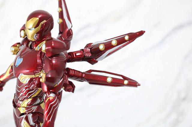 S.H.フィギュアーツ アイアンマン マーク50 ナノウエポンセット2 レビュー 可動範囲 ヒトデ