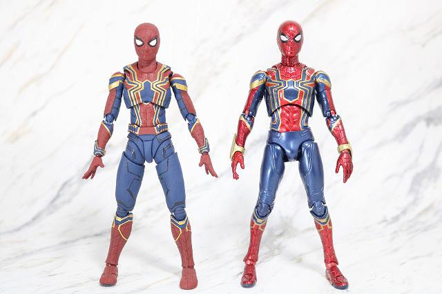 MAFEX アイアン スパイダーマン レビュー 全身 S.H.フィギュアーツ アイアンスパイダー 比較