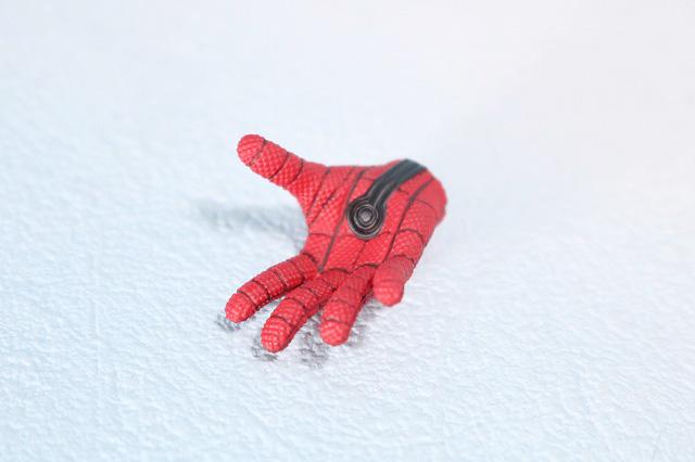 ホットトイズ ムービーマスターピース スパイダーマン ムービープロモエディション ホームカミング レビュー 付属品 手首