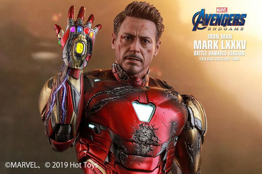 ホットトイズ新作!ダメージ版アイアンマン マーク85が2021年発売!ナノガントレット付き!