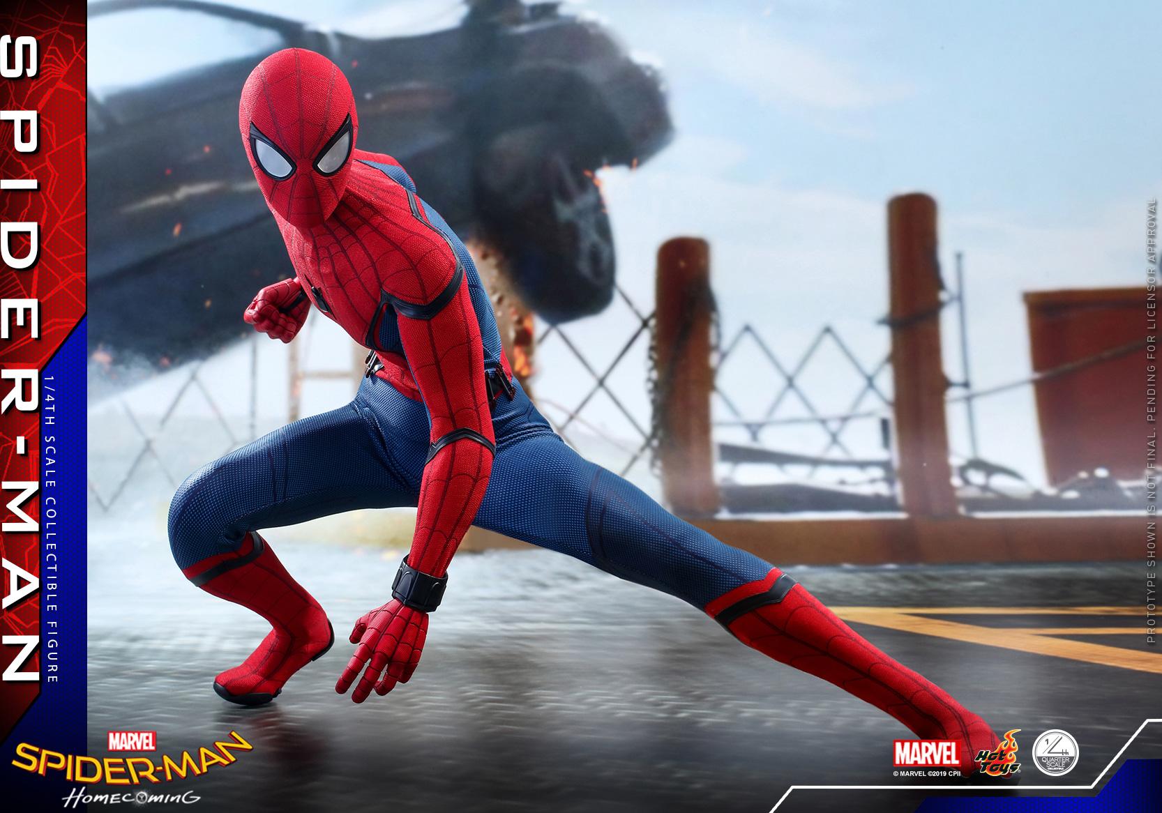 ホットトイズ クオーター・スケール スパイダーマン ホームカミング