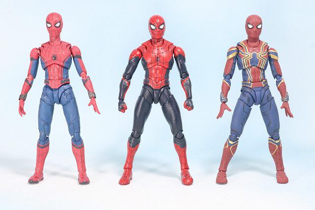 S.H.フィギュアーツ スパイダーマン アップグレード・スーツ(ファー・フロム・ホーム) レビュー 全身 ホームカミング アイアンスパイダー 比較