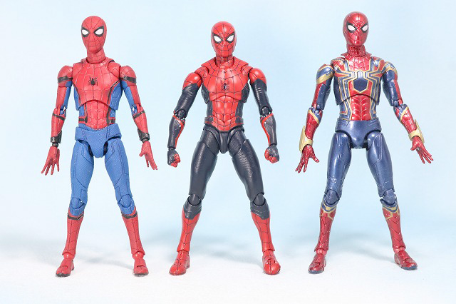 S.H.フィギュアーツ スパイダーマン アップグレード・スーツ(ファー・フロム・ホーム) レビュー 全身 MAFEXU ホームカミング版 アイアンスパイダー 比較