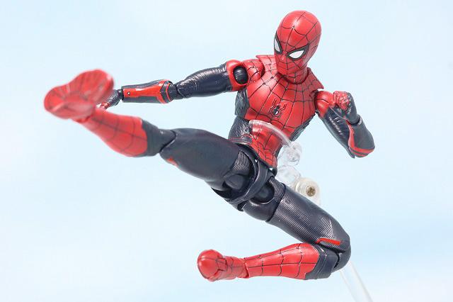 S.H.フィギュアーツ スパイダーマン アップグレード・スーツ(ファー・フロム・ホーム) レビュー アクション