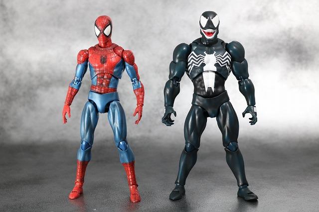 MAFEX マフェックス ヴェノム コミックVer レビュー 全身 スパイダーマン 比較