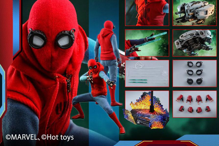 【予約開始】ホットトイズ新作!スパイダーマン ホームメイドスーツが『FFH』版として再登場!ドローン付き!