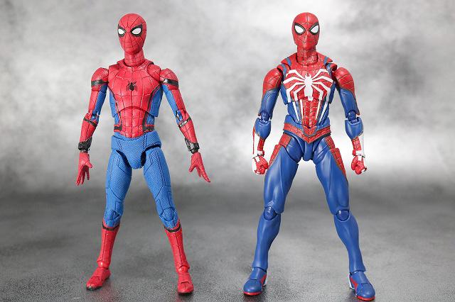 S.H.フィギュアーツ スパイダーマン アドバンス・スーツ(Marvel's Spider-Man) レビュー 全身 MAFEX スパイダーマン ホームカミング 比較