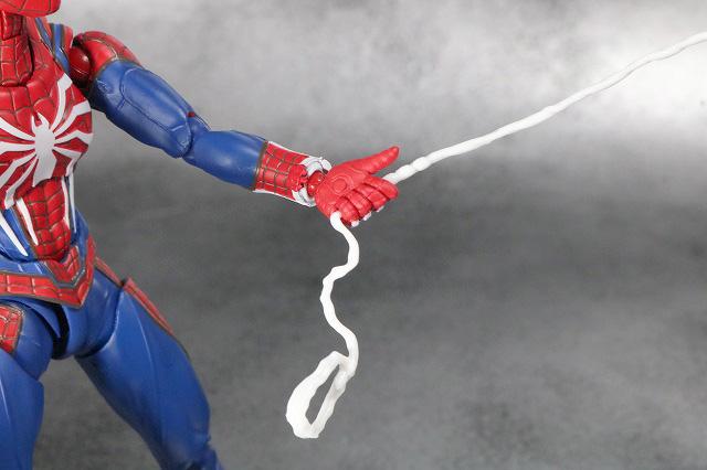 S.H.フィギュアーツ スパイダーマン アドバンス・スーツ(Marvel's Spider-Man) レビュー 付属品 スパイダーウェブ 射出 手持ち用
