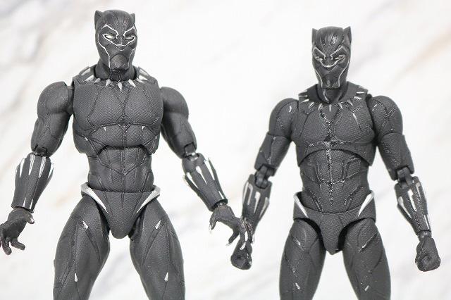 MAFEX ブラックパンサー レビュー 全身 S.H.フィギュアーツ ブラックパンサー 比較