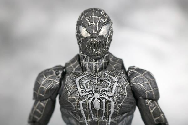 MOVIE REALIZATION スパイダーマン ブラックスパイダーマン レビュー 付属品 差し替え頭部
