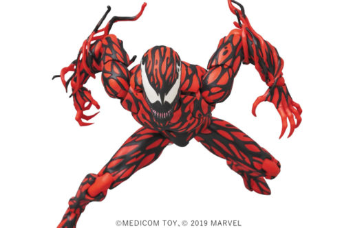 MAFEX新作!カーネイジ(コミックVer.)が2020年12月に発売!武器や素顔頭部も付属!