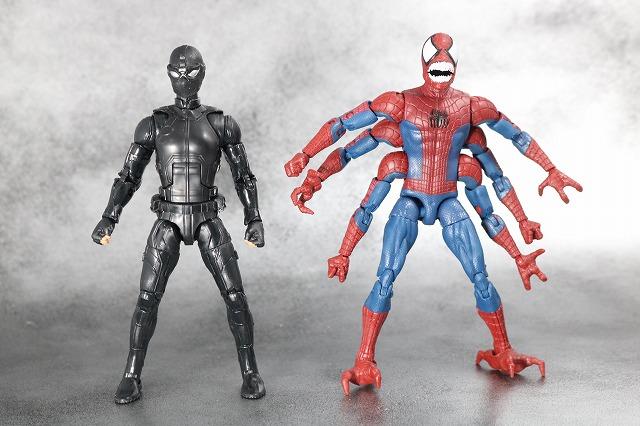 マーベルレジェンド ドッペルゲンガー スパイダーマン レビュー 全身 スパイダーマン ステルススーツ 比較