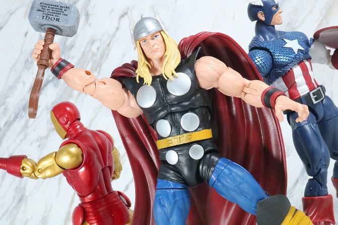 マーベルレジェンド ソー(Marvel Comics 80th Anniversary) レビュー アクション キャプテンアメリカ アイアンマン