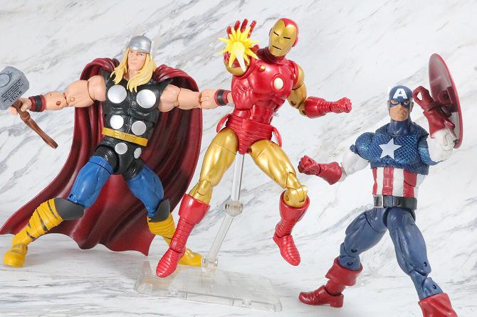 マーベルレジェンド アイアンマン(Marvel Comics 80th Anniversary) レビュー アクション キャプテンアメリカ ソー