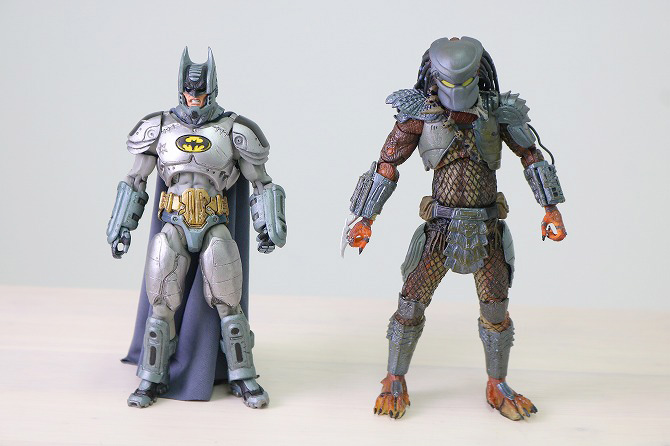 NECA ネカ バットマンVSプレデター SDCC2019限定 バットマン レビュー 全身 比較
