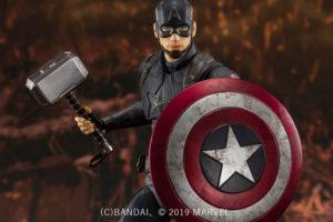 S.H.フィギュアーツ新作!キャプテンアメリカがファイナルバトル版で2020年5月発売!ムジョルニア&割れ盾も!