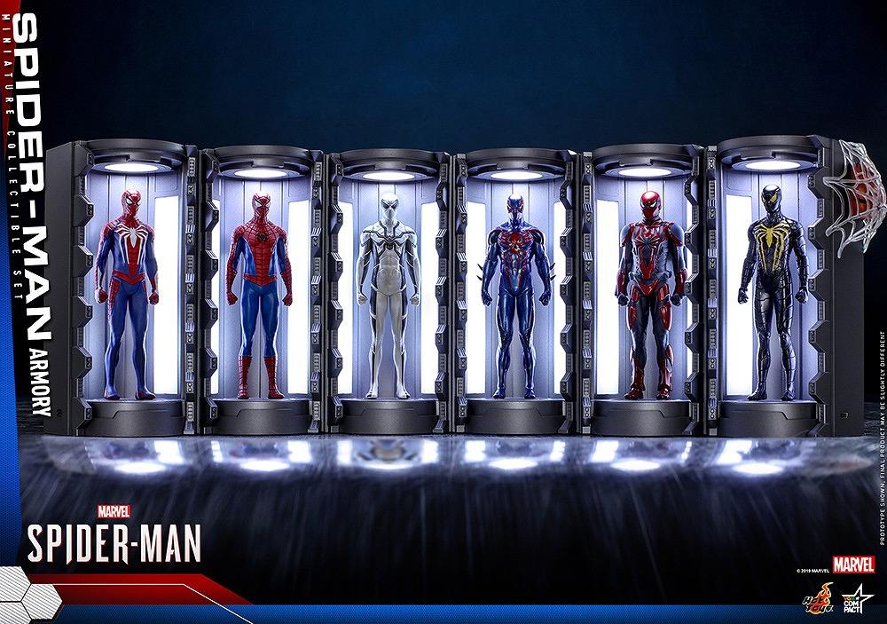 ホットトイズ新作!VGMS・COMPACTより格納庫付きスパイダーマン・スーツが登場!ゲームの世界を堪能!