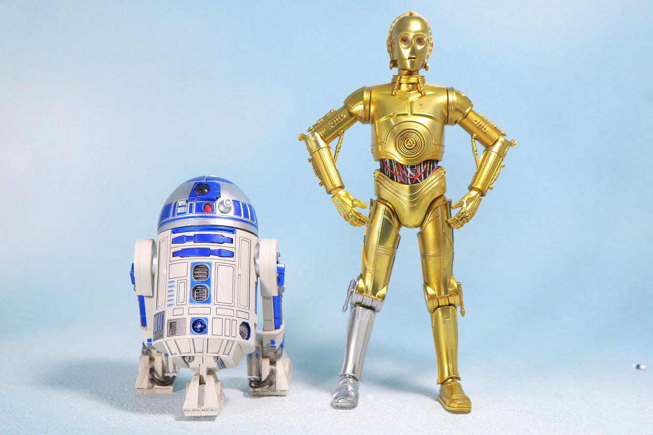 S.H.フィギュアーツ C3-PO(A NEW HOPE) レビュー 全身 R2-D2 比較