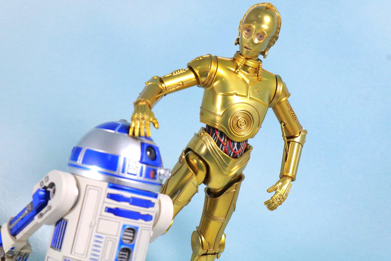 S.H.フィギュアーツ C3-PO(A NEW HOPE) レビュー アクション R2-D2