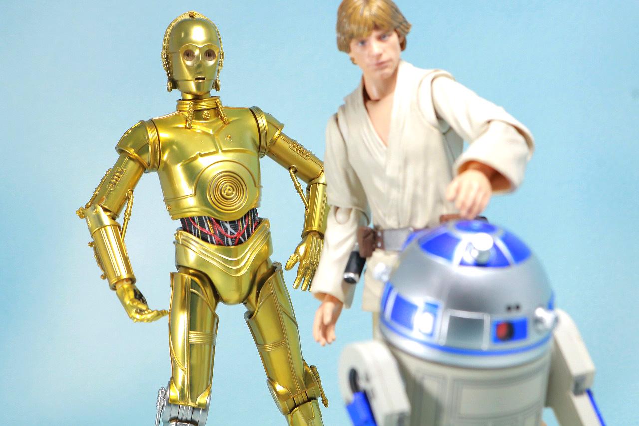 S.H.フィギュアーツ C3-PO(A NEW HOPE) レビュー アクション R2-D2 ルーク・スカイウォーカー