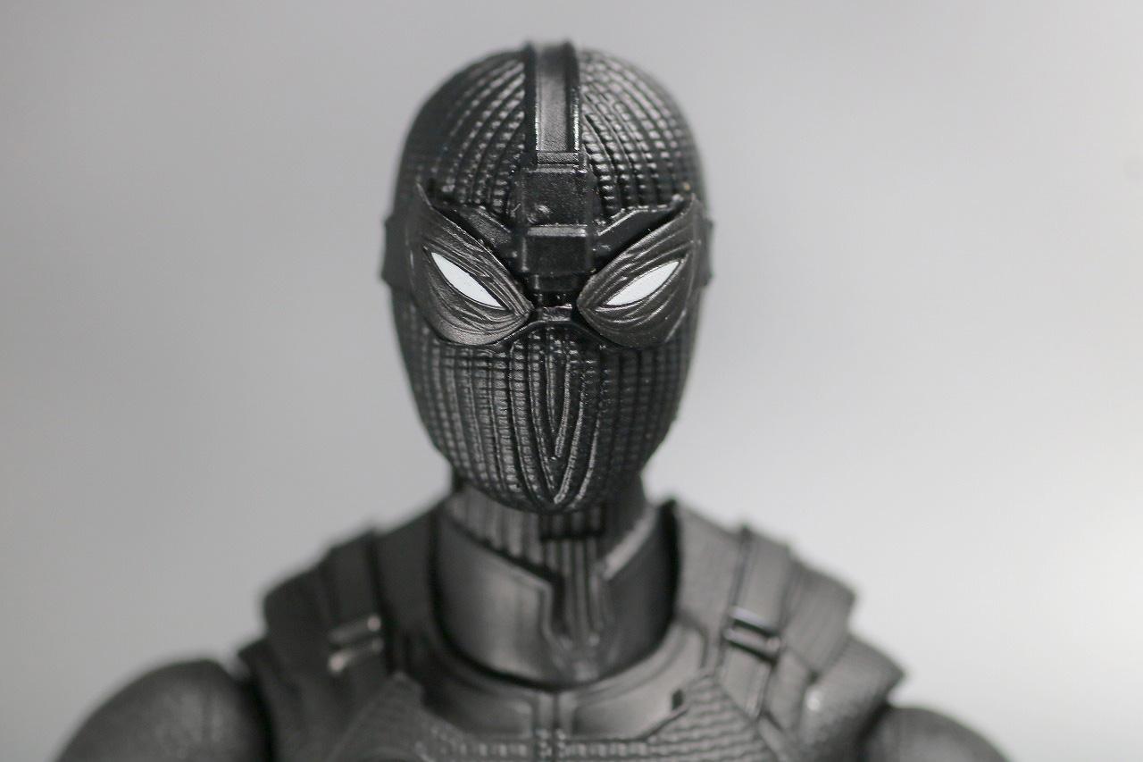 S.H.フィギュアーツ スパイダーマン ステルス・スーツ レビュー 付属品 交換用目パーツ