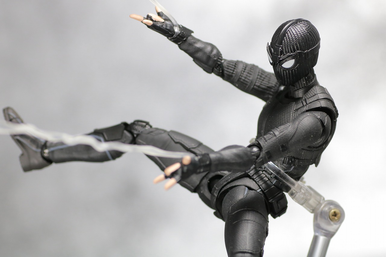 S.H.フィギュアーツ スパイダーマン ステルス・スーツ レビュー アクション
