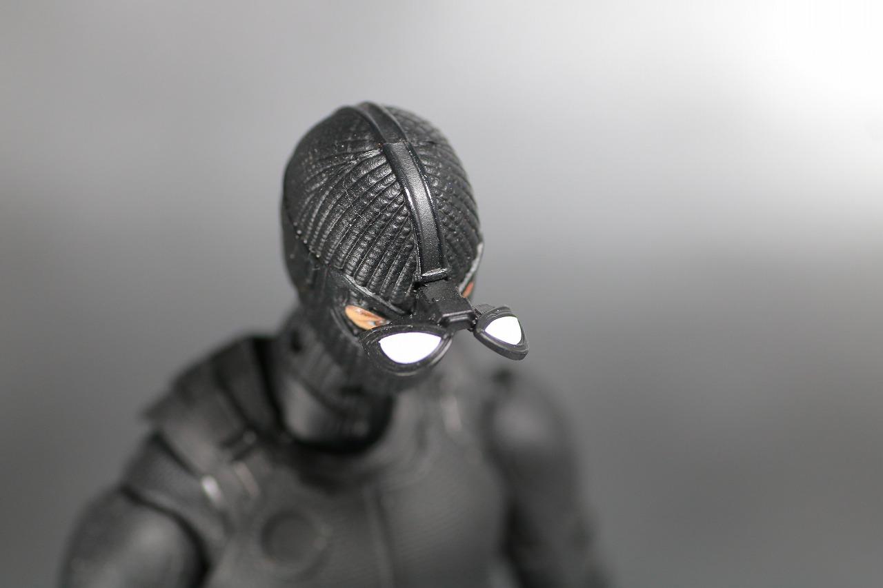 S.H.フィギュアーツ スパイダーマン ステルス・スーツ レビュー 付属品 目元素顔頭部パーツ