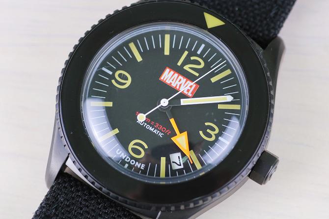 UNDONE アンダーン マーベル コラボ ロゴ 腕時計 レビュー