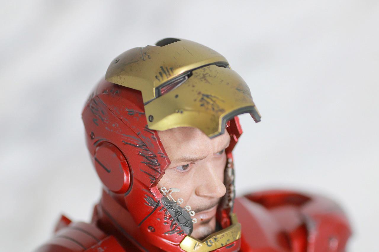 ホットトイズ ムービー・マスターピース DIECAST アイアンマン マーク7 レビュー 付属品 トニー・スタークヘッド