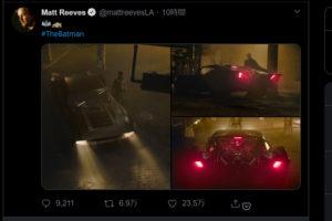 マット・リーブス監督『ザ・バットマン』登場のバットモービルの写真を共有! - アメ車ベースのモンスターマシンに?