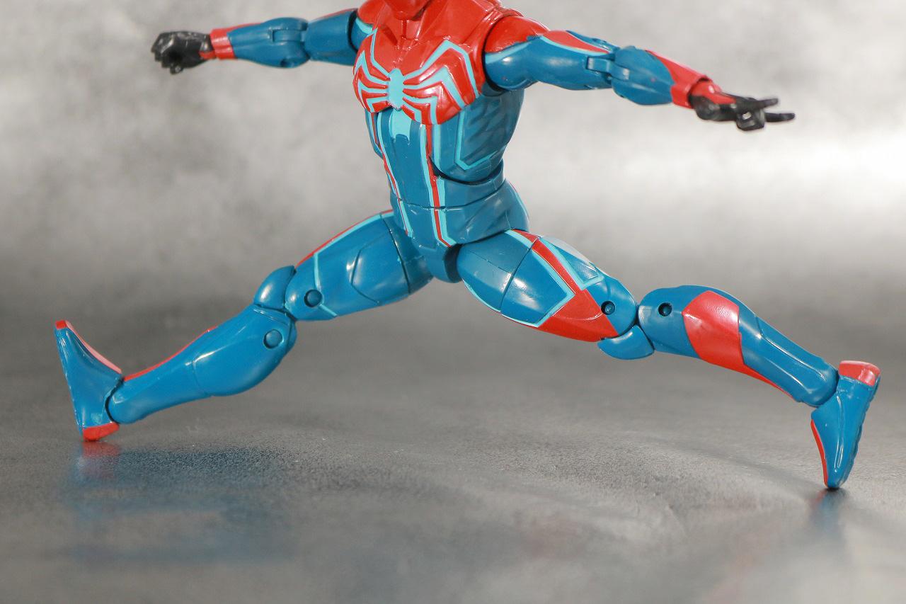 マーベルレジェンド スパイダーマン ベロシティスーツ レビュー 可動範囲