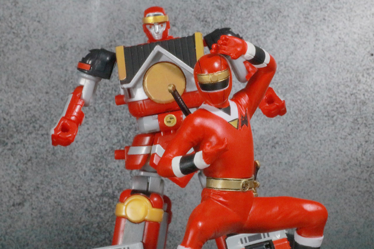HG 忍者戦隊カクレンジャー レビュー アクション スーパーミニプラ 無敵将軍 レッドサルダー