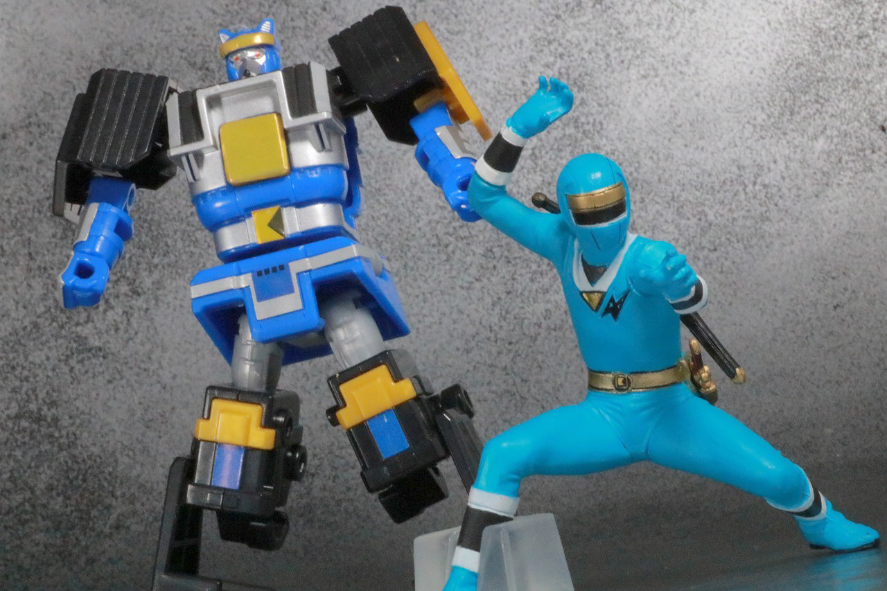 HG 忍者戦隊カクレンジャー レビュー アクション スーパーミニプラ 無敵将軍 ブルーロウガン