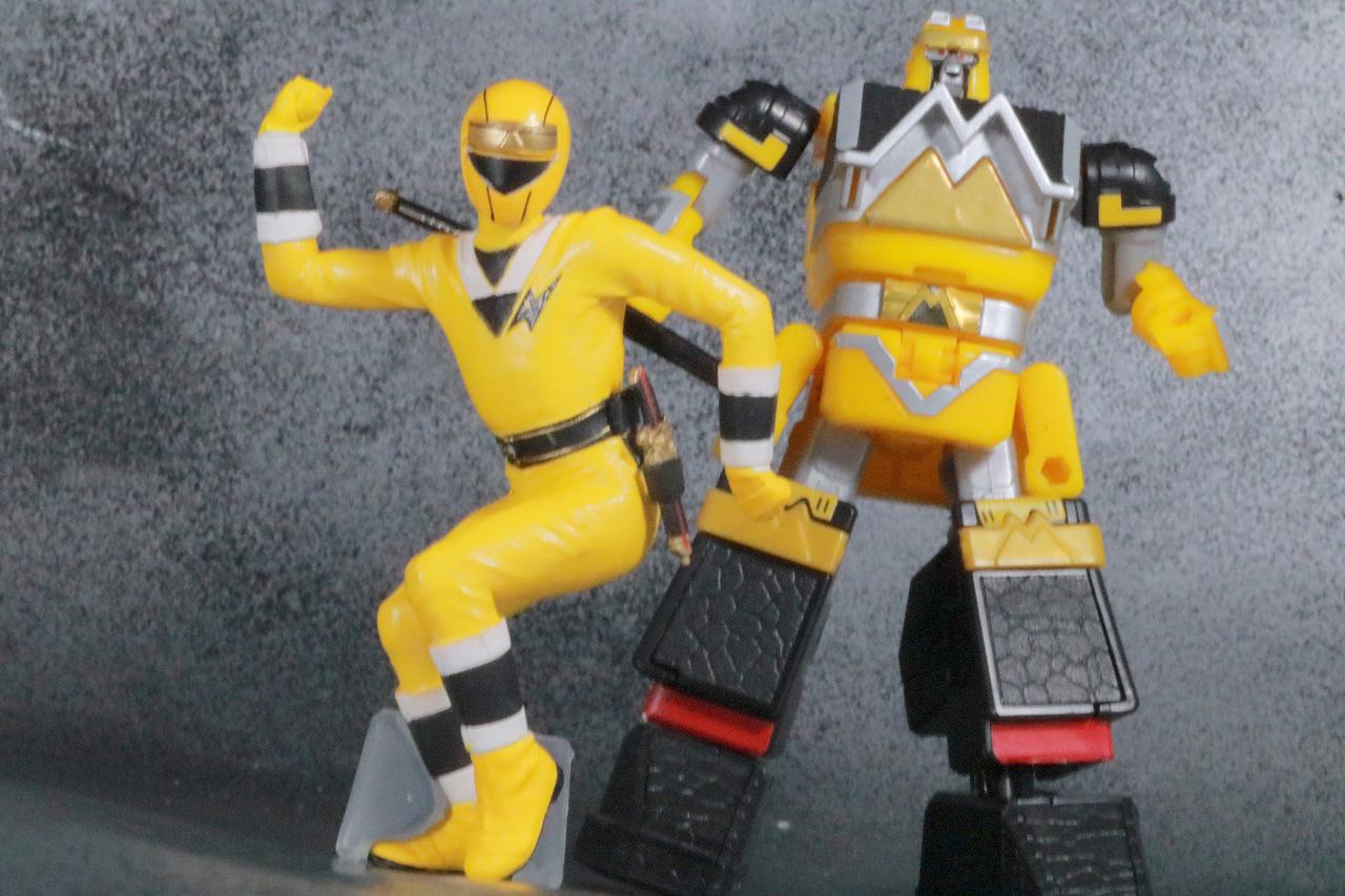 HG 忍者戦隊カクレンジャー レビュー アクション スーパーミニプラ 無敵将軍 イエロークマード